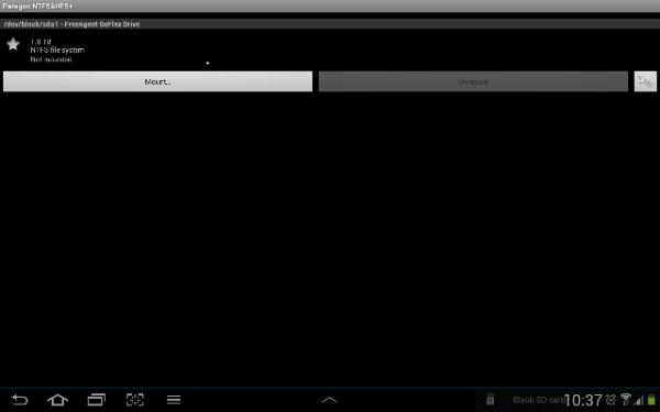 Menghubungkan HDD 2TB format NTFS dengan Galaxy Tab 2 10.1 (2/5)